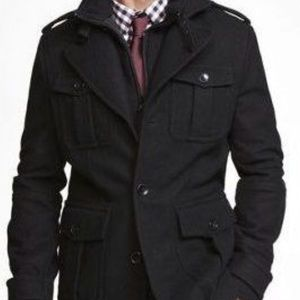 EXPRESS MEN SYSTEMS MILITARY WOOL JACKET COAT